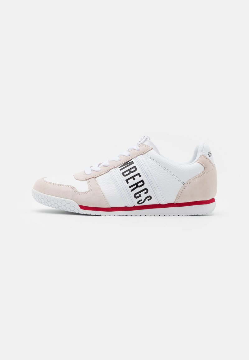 Bikkembergs - ENRICUS - Trainers - white/pompeian red