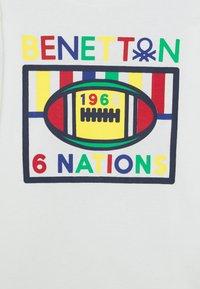 Benetton - Top sdlouhým rukávem - white - 2