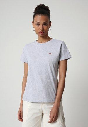 SALIS - T-shirt basique - light grey melange