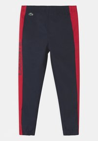 Lacoste Sport - TENNIS UNISEX - Tracksuit bottoms - navy blue/ruby - 0