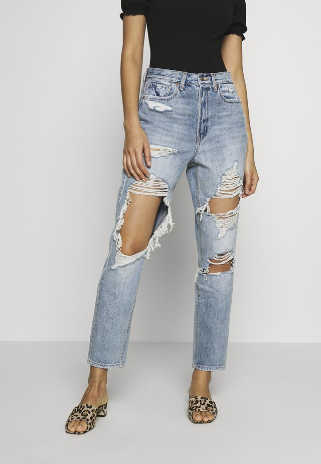 HIGHEST RISE MOM - Jeans Straight Leg - indigo skylight