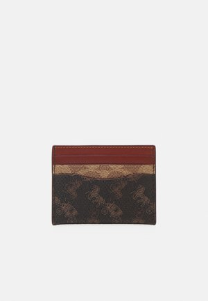 SIGNATURE CARRIAGE FLAT CARD CASE - Wallet - tan truffle