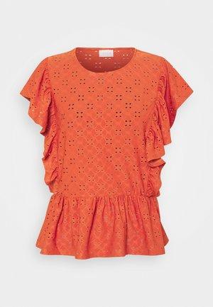 VITRESSY CAPSLEEVE - T-shirt con stampa - burnt ochre