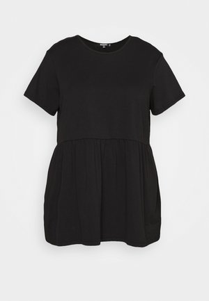 PLUS SMOCK - Print T-shirt - black