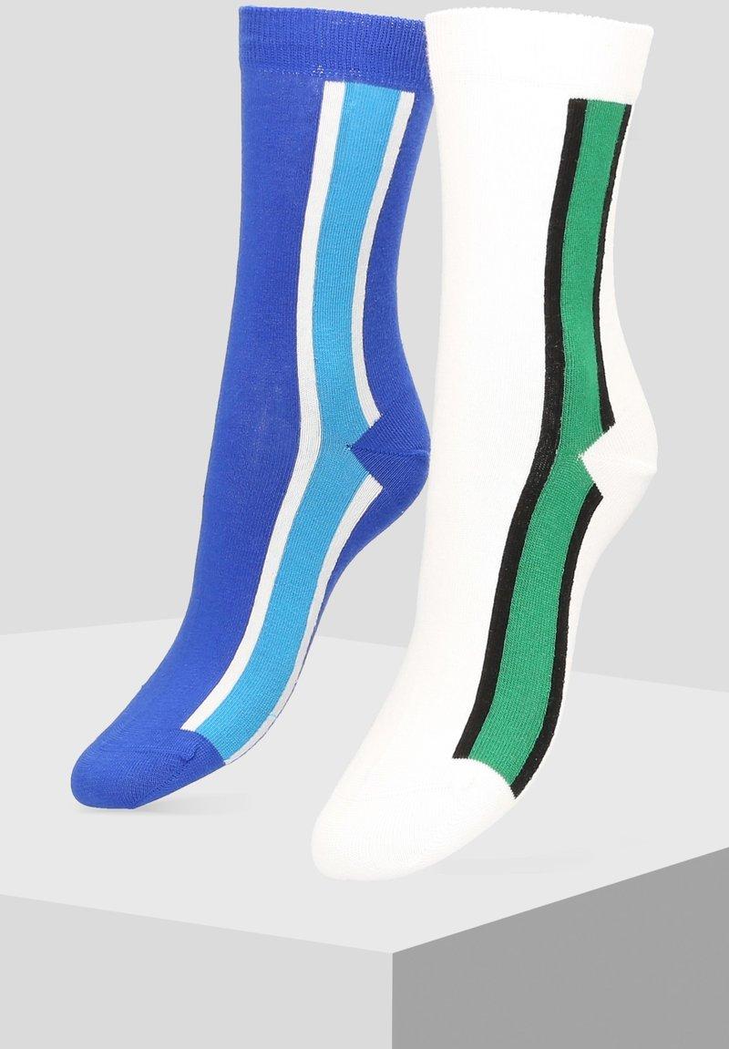 Libertad - 2 PACK - Socks - white