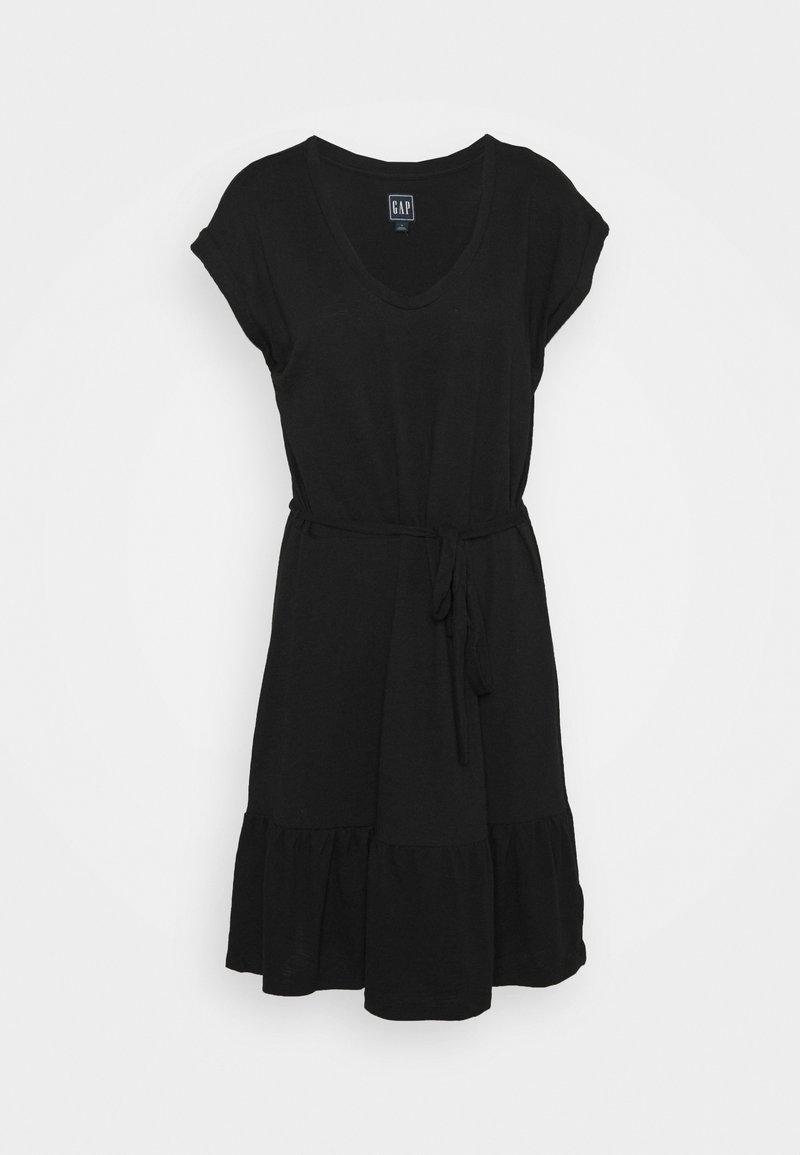 GAP - TIERED - Vestido ligero - true black