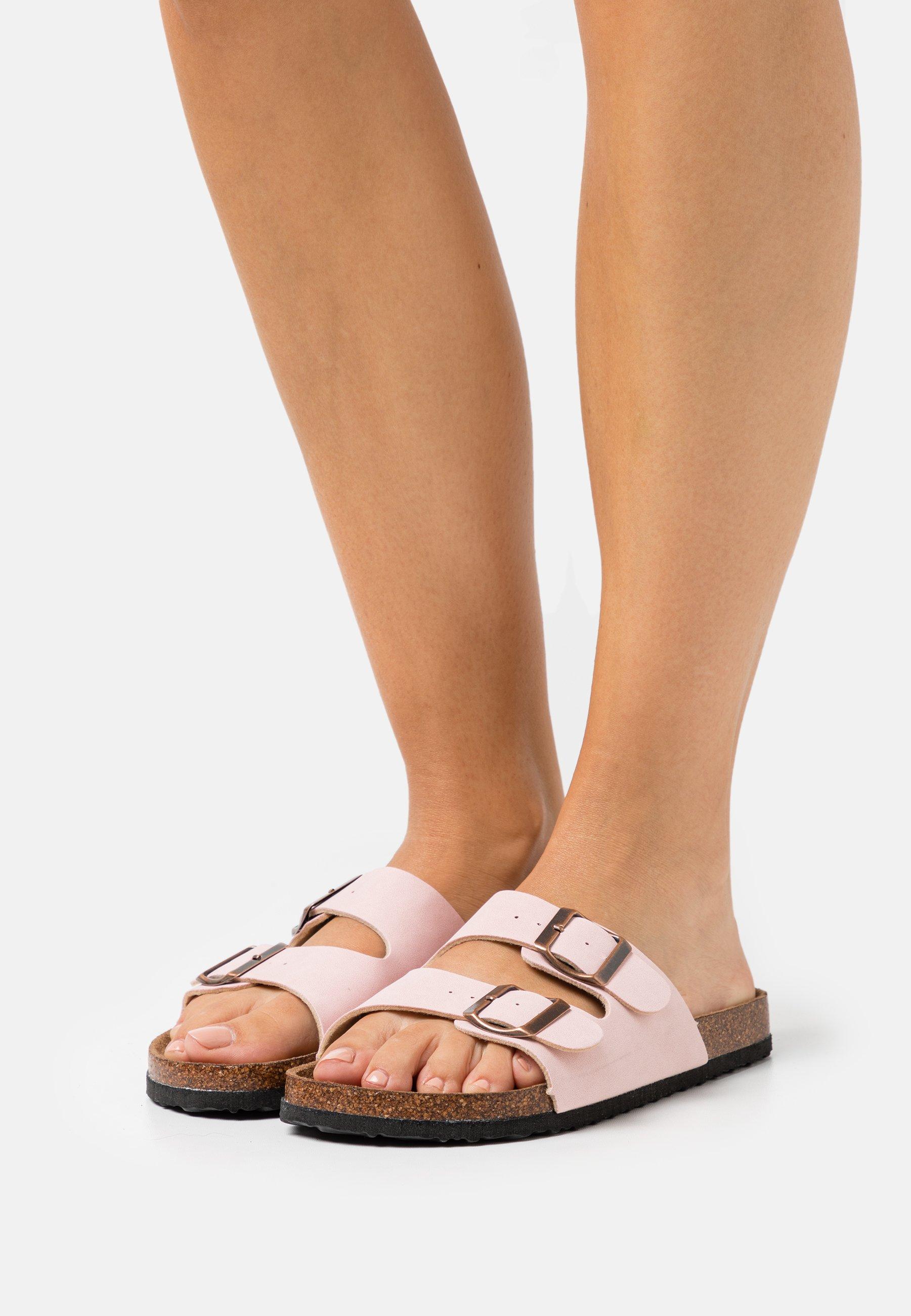 Donna VEGAN REX DOUBLE BUCKLE SLIDE - Pantofole