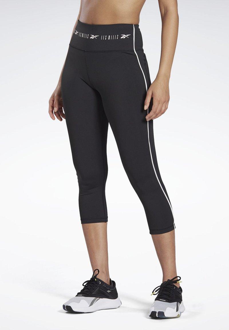 Reebok - LES MILLS® HIGH-RISE 3/4 LEGGINGS - 3/4 sports trousers - black