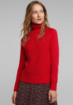 COWL NECK - Trui - red