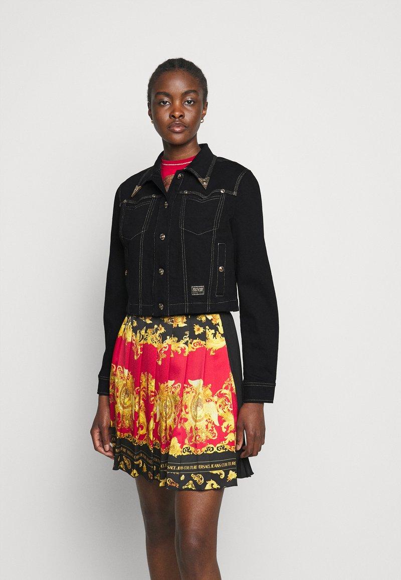 Versace Jeans Couture - LADY JACKET - Denim jacket - black