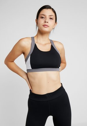 COLOR BLOCK BRA - Sujetador deportivo - performance black