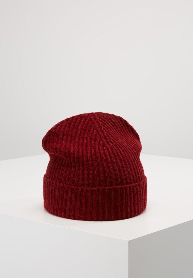 CASHMERE BEANIE - Bonnet - cabernet