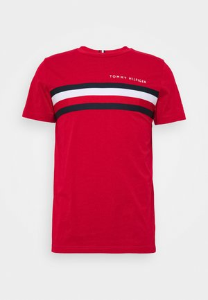 GLOBAL STRIPE TEE - T-shirt con stampa - red