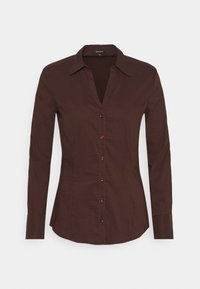 More & More - BLOUSE SLEEVE - Button-down blouse - chocolate - 0