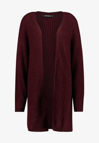 Missguided - OVERSIZED BATWING CARDIGAN - Kardigan - burgundy - 4