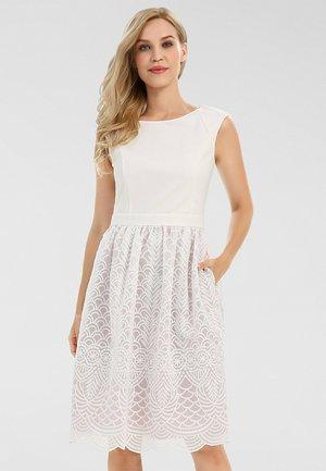 Day dress - creme-mauve