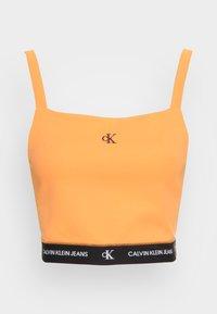 Calvin Klein Jeans - CROP WITH TAPE - Top - island orange - 3