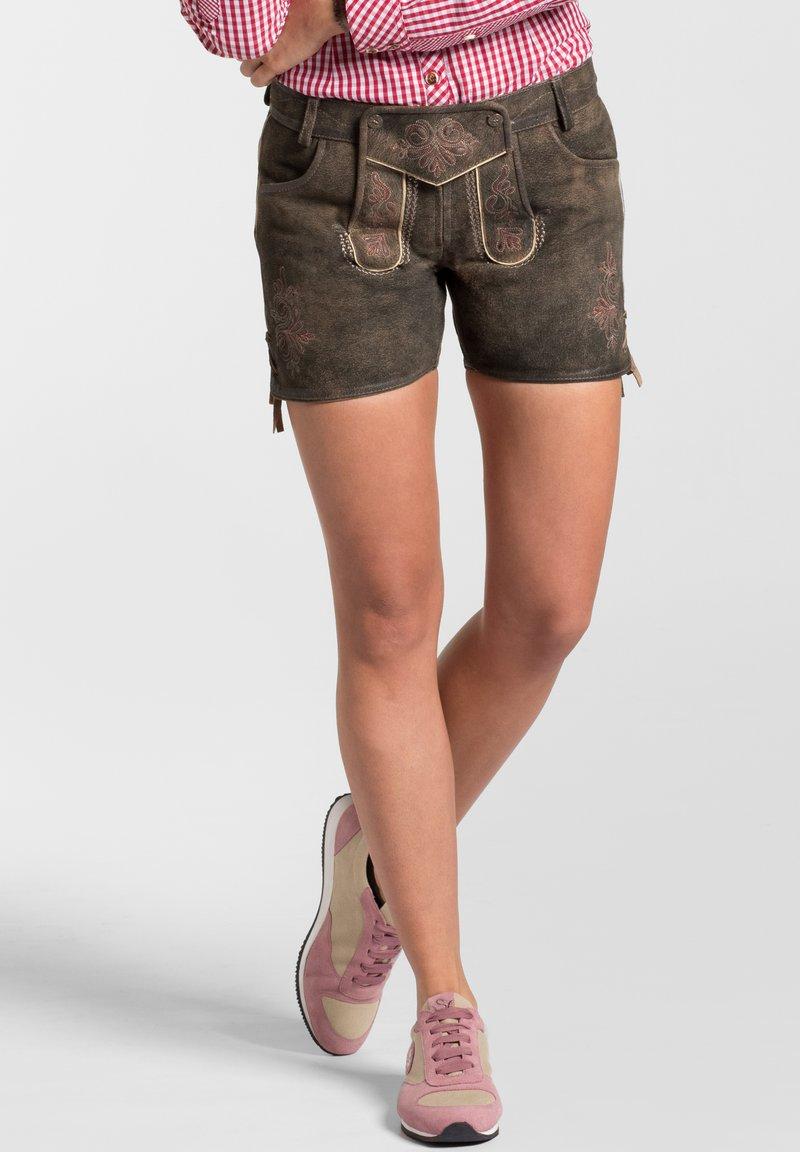 Spieth & Wensky - MIA - Leather trousers - braun