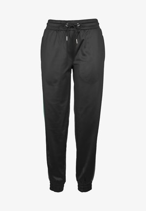 Tracksuit bottoms - black/green