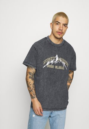 KIETH UNISEX - Print T-shirt - black acid wash