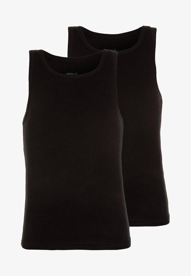 NMMTANK 2 PACK - Undershirt - black