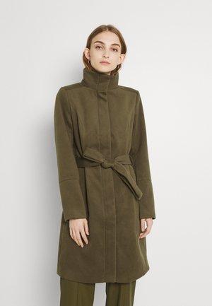 VIPOKU HIGH NECK COAT - Classic coat - dark olive