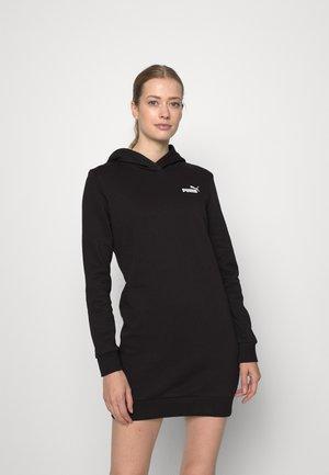 HOODED DRESS - Sports dress - black