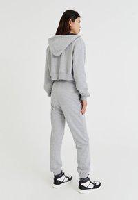 PULL&BEAR - BASIC - Zip-up sweatshirt - mottled grey - 2