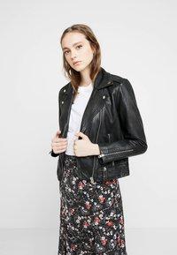 Topshop - MONA - Leather jacket - black - 0