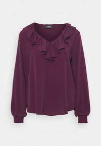 Wallis - RUFFLE TIE NECK - Blouse - berry - 0
