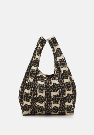 SMARTBAG MUSTA TAMMA - Shopping bag - black/beige/orange