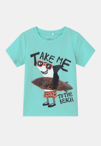 NMMFANO - Print T-shirt - blue tint