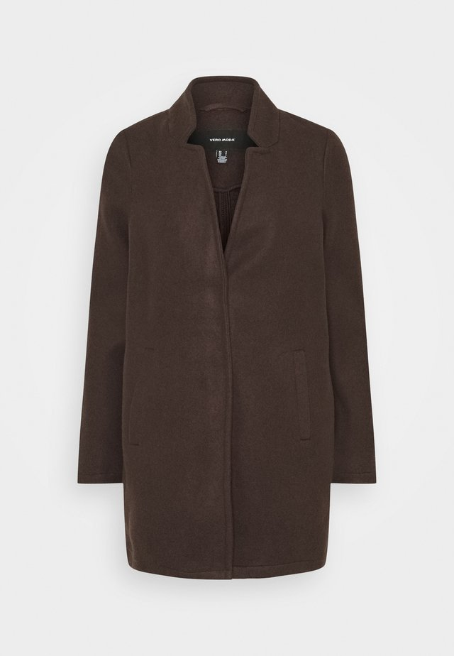 KATRINE - Short coat - chocolate plum