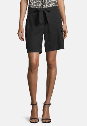 MIT BINDEGÜRTEL - Shorts - schwarz