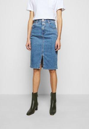 EMMETT - Pencil skirt - blue