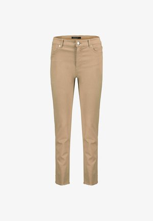 CROPPED FIT - Slim fit jeans - camel