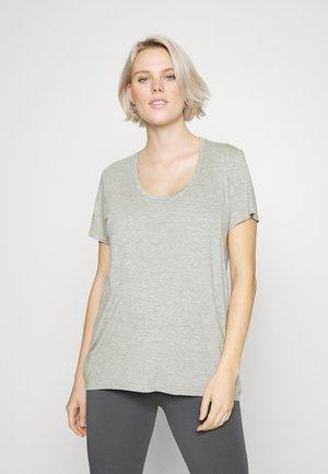 NURSING SCOOP LAYER TEE - Basic T-shirt - grey