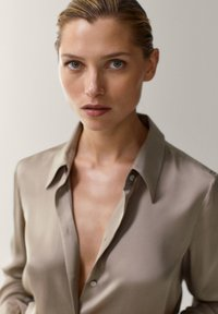 Massimo Dutti - Button-down blouse - beige - 2