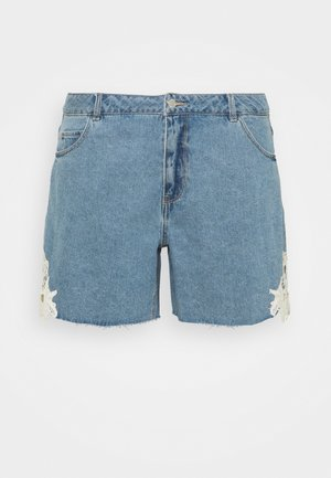 VMNINETEEN - Denim shorts - light blue denim/birch