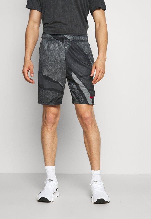 DRY SHORT - Sports shorts - black/dark cayenne
