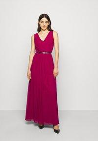 Lauren Ralph Lauren - GRACEFUL LONG GOWN - Vestido de fiesta - modern dahlia - 0