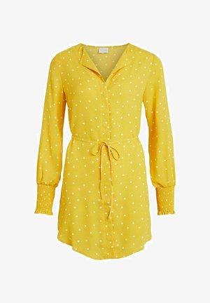 Shirt dress - spicy mustard