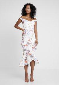True Violet - BARDOT BODYCON WITH FRILL - Maxi dress - multi-coloured/white - 2