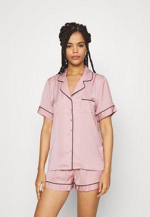 AMANDA SHORT SLEEVE PJ SET  - Pyžamová sada - pink