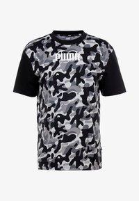 Puma - REBEL CAMO TEE - Print T-shirt - black - 3