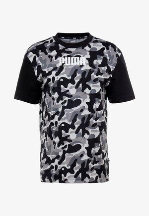 REBEL CAMO TEE - Print T-shirt - black