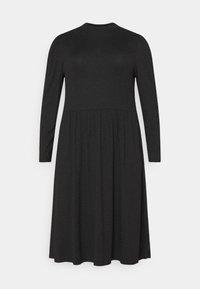 ONLY Carmakoma - CARCARMAKOMA CALF DRESS - Jersey dress - black melange - 4