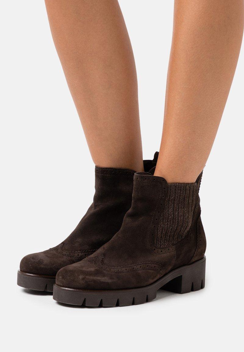Gabor - Platform ankle boots - brown