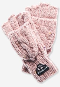 Superdry - GRACIE - Fingerless gloves - candy tweed pink - 1