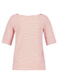 Gerry Weber - 1/2 ARM - Print T-shirt - ecru/weiss/rot/orange ringel - 1